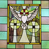 Stained glass window in the Fellowship Hall