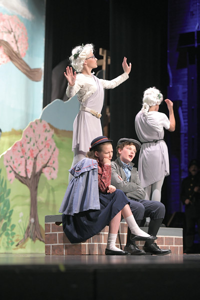 Matthew Gaston | The Sheridan Press<br>Charlize and Camden Gonda as Jane and Michael Banks question whether or not they will have any fun with their new governace Mary Poppins at the WYO Performing Arts and Education Center Wednesday, June 12, 2019. Tandem Productions will be hosting an alumni showcase in celebration of their 25th anniversary Sunday, June 16th at 1:30 p.m. at the WYO Theater which will be free to the public.