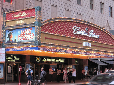 The Cadillac Palace Theatre for the performance of Mary Poppins!!