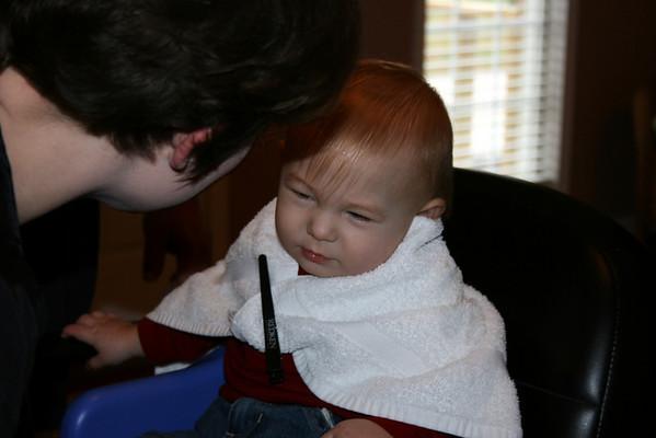 Mason's First Haircut