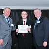 Daniel Beebe, President's Top Ten Scholarship Recipient with James J. McKenzie, Esq., Chairman, MassBay Foundation, and President John O'Donnell