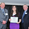 Galini Halkidis, 4.0 Scholarship Recipient, with James J. McKenzie, Esq., Chairman, MassBay Foundation, and President John O'Donnell