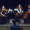 Albuquerque Youth Symphony Program string quartet listening to critique from Michael Katz, Lysander Piano Trio