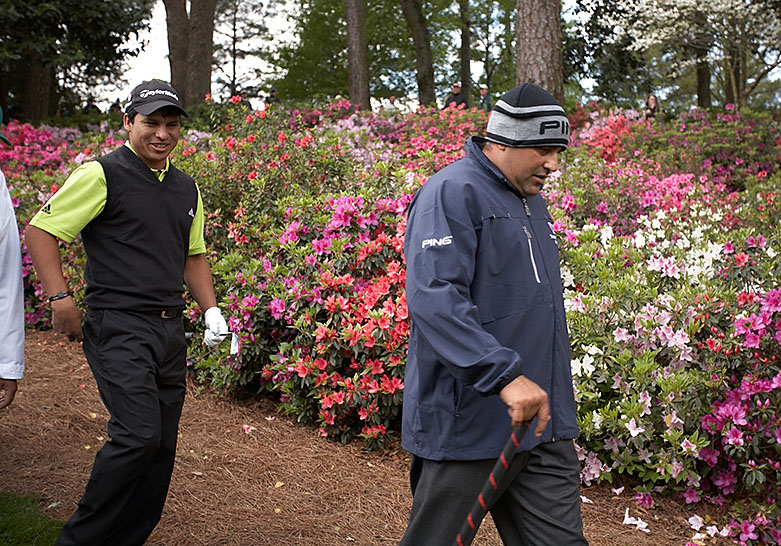 Romero (left) and Angel Cabrera (right).