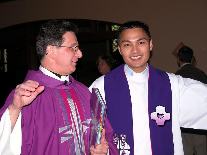 Fr. Mark with fellow associate pastor Fr. Francis-Vu Tran.