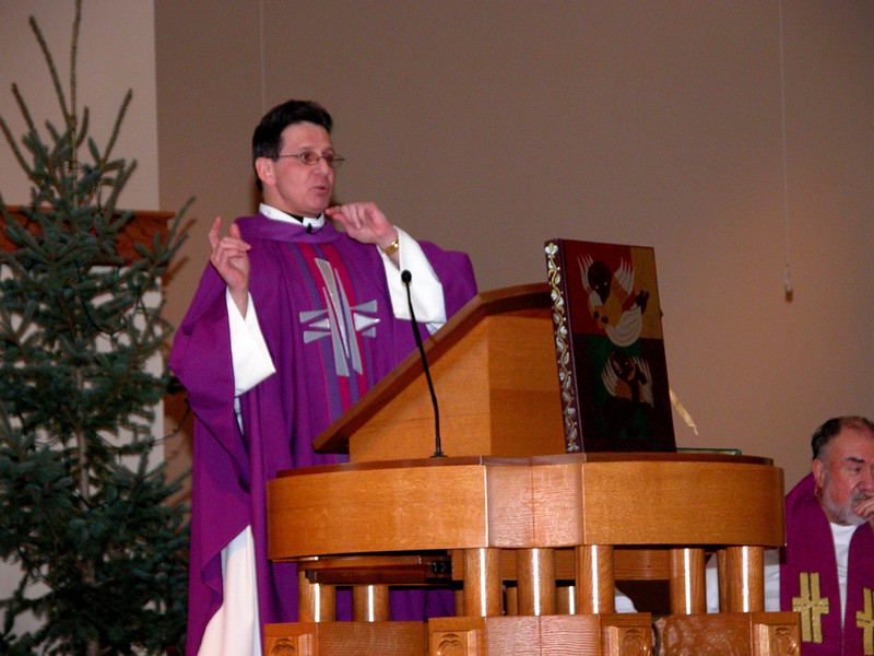 Last remarks during the homily.