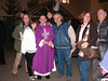 Fr. Mark after Mass with well-wishers.