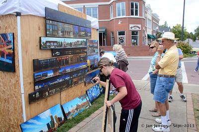 Matthews Art Fair in Matthews Station, Sept. 29, 2013