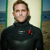 "Derek Dunfee before his heat at the 2013 Mavericks Invitational surf competition in Half Moon Bay, California.  Photo by Peter Adams  <a href=""http://www.peteradamsphoto.com"">http://www.peteradamsphoto.com</a>)."