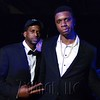 Former UK athletes Aaron Boyd and Terrance Jones at the 6th Annual Fillies and Stallions Derby Eve Party at the Mellwood Arts Center Friday night. May 6th, 2016.