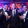 UofL Assistant Coach Kenny Johnson, Former players Damian Lee and Trey Lewis pose for a photo at the 6th Annual Fillies and Stallions Derby Eve Party at the Mellwood Arts Center Friday night. May 6th, 2016.