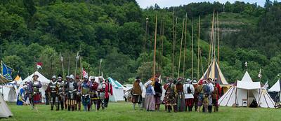 Das Heerlager der Pikeniere / Camp of pikemen