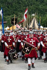 Aufmarsch der Malteser /  Parade of the Maltese