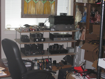 A peek through the door into my messy electronics toyroom.