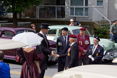 Mayor Greg Moore meets members of the Legion. May Day celebrations in Port Coquitlam 2013