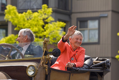 Parade marshalls Don and Norma Gillespie. May Day celebrations in Port Coquitlam 2013