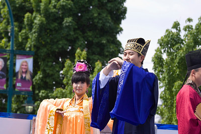 Tang Dynasty performers. May Day celebrations in Port Coquitlam 2013