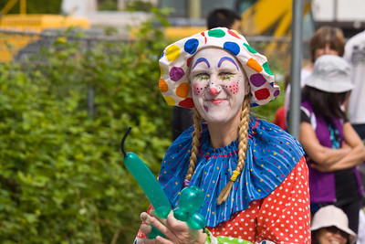 Happy the clown. May Day celebrations in Port Coquitlam 2013