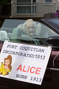 Alice was born in 1913, the same year as Port Coquitlam. May Day celebrations in Port Coquitlam 2013