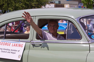 George Laking, former councillor and mayor (1980-81) of Port Coquitlam. May Day celebrations in Port Coquitlam 2013