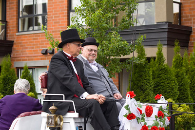 Wilson Centre Seniors Advisory Association on horse and buggy, May Day celebrations in Port Coquitlam 2013