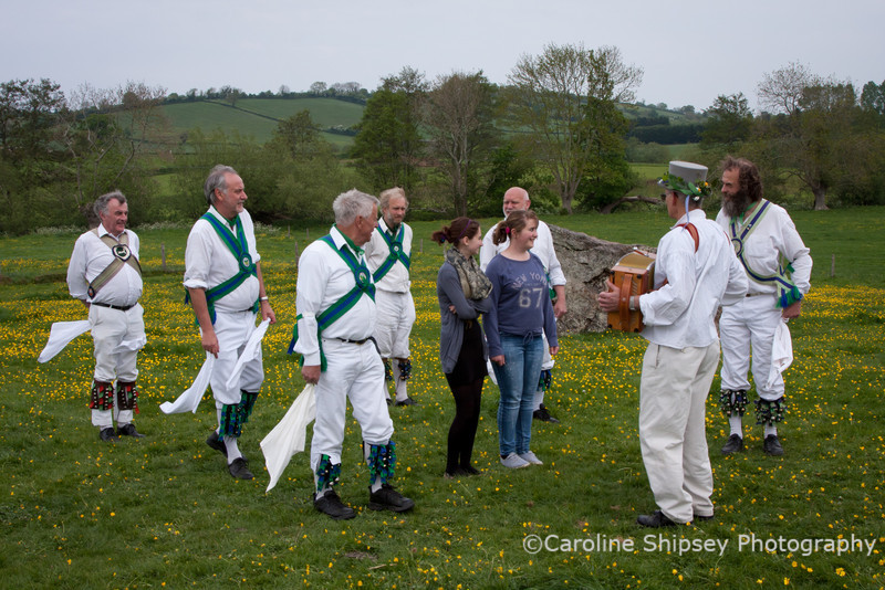 The final dance - The Rose.  This requires the services of a virgin, but the initially unsuspecting subject was nervous and wanted her friend with her.  It's amazing how one always turns up, even in a field in Stanton Drew......