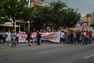 May first protest in Austin