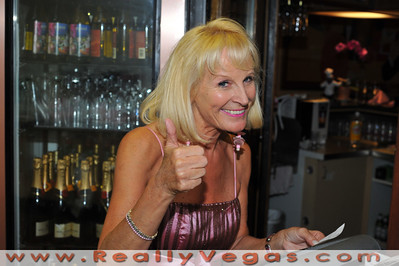 International singer star Charo dines at Josett's Bistro in Las Vagas after finishing her PBS Special with Tony Sacca.