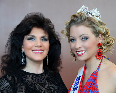 Rita Corwin and Sarah Dickson (Mrs. Alaska - USA)