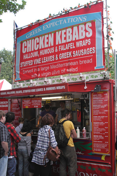 Chicken Kebab stall at The Mayor's Thames Festival 2010