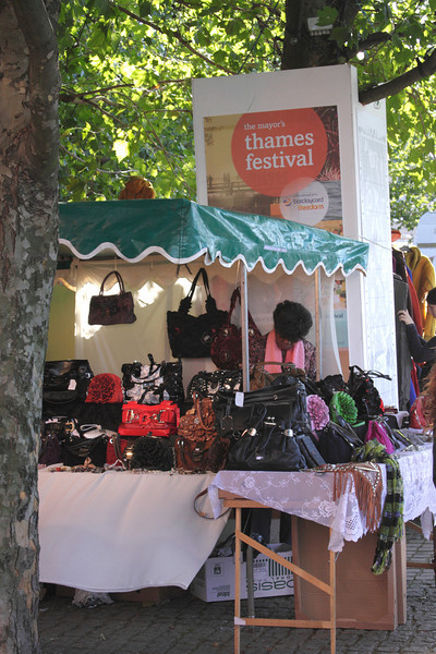 Handbag stall at The Mayor's Thames Festival 2010