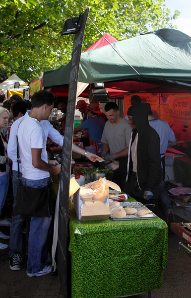 Food stall at The Mayor's Thames Festival 2010