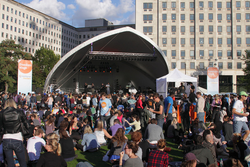 Freedom Stage at The Mayor's Thames Festival 2010