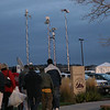 News van antennas reaching for the sky outside Skysox stadium