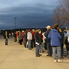 In the wee hours waiting outside Skysox stadium to enter Rally