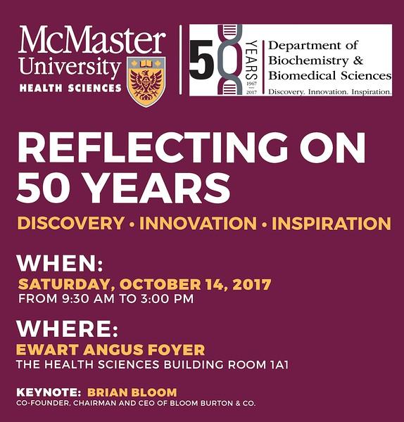 McMaster University BBS 50th Anniversary