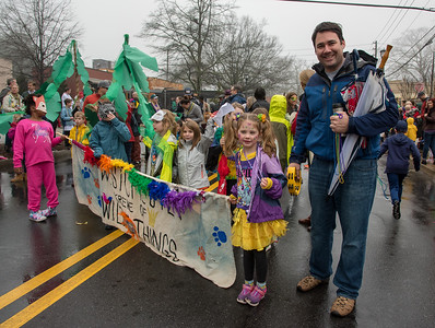 David and Phoebe Sizer are proud to walk together for the Westchester Wild Things at the 2018 Mead Rd. Mardi Gras parade