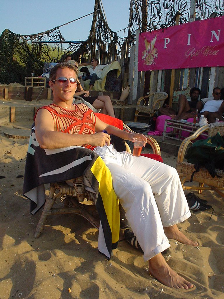 "That's me, comfortably buzzed, from the PINK rosé at <a href=""http://www.meccabeach.nl/"">Mecca</a>"
