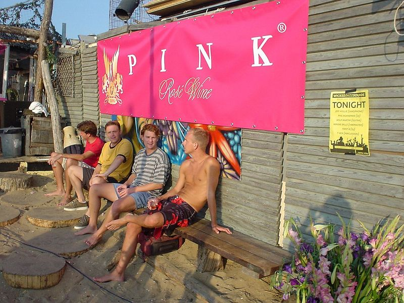 "Characteristic viewof people at <a href=""http://www.meccabeach.nl/"">Mecca</a>'s PINK party"