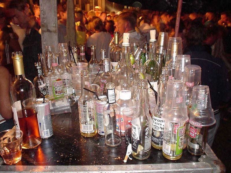 An evening's worth of liquor...