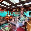 """Alan Medina's """"Tiki Room"""" man cave."""
