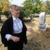 "Boulder's first convicted felon, Ellen Deardoff, played by Barbara Myers, talks about her violent history in Boulder.<br /> For more photos and a video of the spirits, go to  <a href=""http://www.dailycamera.com"">http://www.dailycamera.com</a>.<br /> Cliff Grassmick / October 17, 2010"