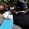 "Chuck Sanders plays ""Eben G. Fine, Mr. Boulder,"" during Historic Boulder's ""Meet the Spirits"" on Sunday at historic Columbia Cemetery. A book he wrote is in the foreground.<br /> For more photos and a video of the spirits, go to  <a href=""http://www.dailycamera.com"">http://www.dailycamera.com</a>.<br /> Cliff Grassmick / October 17, 2010"