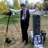 "Chuck Sanders plays ""Eben G. Fine, Mr. Boulder,"" during Historic Boulder's ""Meet the Spirits"" on Sunday at historic Columbia Cemetery.<br /> For more photos and a video of the spirits, go to  <a href=""http://www.dailycamera.com"">http://www.dailycamera.com</a>.<br /> Cliff Grassmick / October 17, 2010"