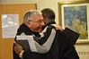 Mons. Gaetano Di Pierro greets Fr. Albert Lingwengwe