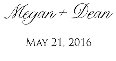 Megan & Deans Wedding