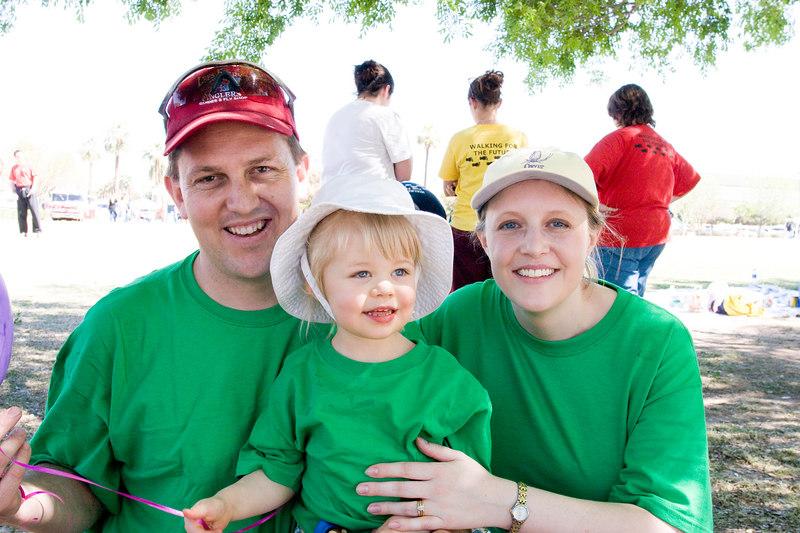 Richard, Megan, and Elizabeth<br /> Megan's team raised $4510 for the walk.