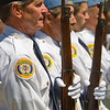 Twenty-one Gun Salute -<br /> American Legion members are ready to deliver the first of 3 twenty-one gun salutes.
