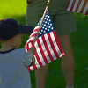 Patriotic Boy -<br /> Children of all ages enjoy the parade.