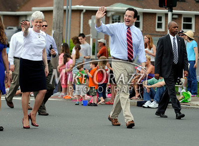 5/28/2011 Mike Orazzi | Staff Lieutenant Governor Nancy Wyman and Governor Dannel P. Malloy during the Newington Memorial Day parade on Saturday.
